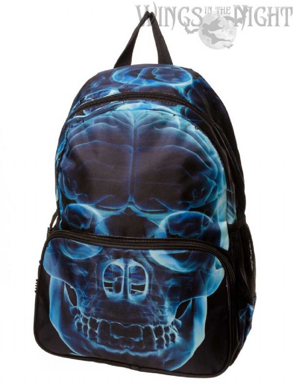 BANNED Gothic Skull X Ray Back Pack / Ruck Sack